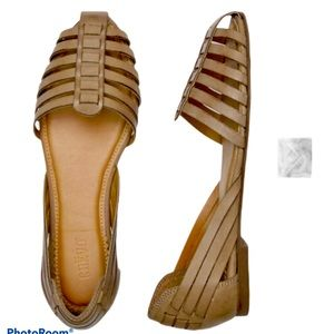 "Crevo Taupe ""Sidney"" Flat Sandal"